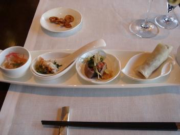 北京ダックと冷菜三種の盛り合わせ