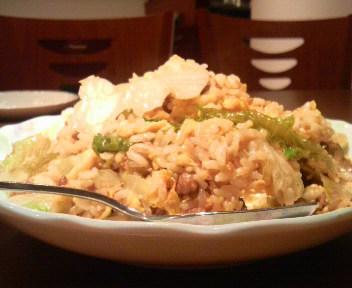 生菜肉崧飯(ミンチとレタスチャーハン)