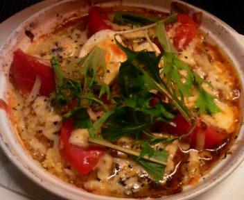 トマトとブルーチーズの焼きスープカリー