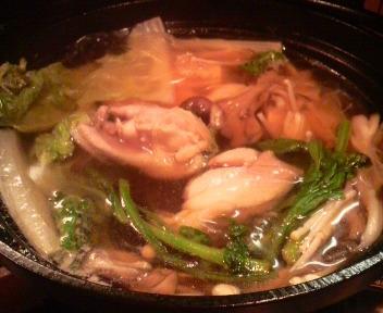 鶏キノコ鍋