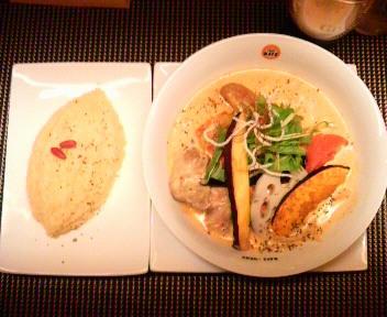 糸島豚と季節のお野菜のココナッツカリー