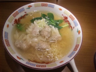 雲呑湯麺(海老ワンタン汁そば)