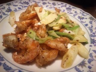 孜然大蝦(殻付き海老のクミン炒め)