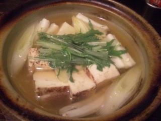 焼き豆腐と煮穴子
