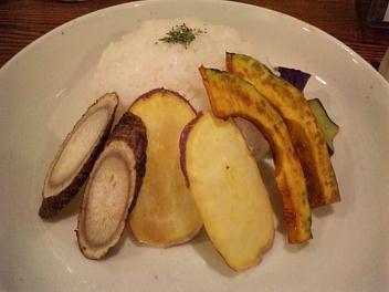 グリーンカレー(ライスと野菜)