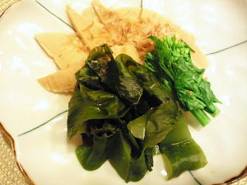 わか筍煮(ワカメ、タケノコ)