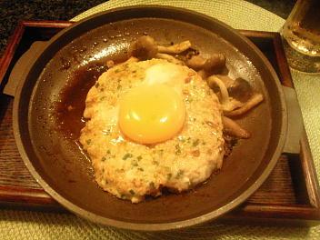 鶏つくね月見焼き(ニラ・なん骨入り)