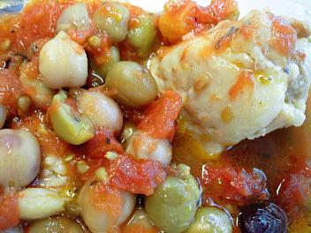 みつせ鶏のトマト煮込み