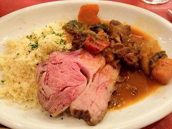 プレミア仔羊グリエ+仔羊と野菜のクスクス