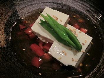 自家製枝豆豆腐冷しトマトあん