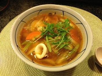 魚介ピリ辛汁ビーフン