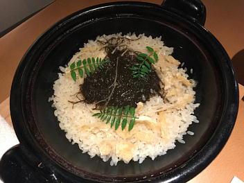 太もずくと新生姜の土鍋ご飯