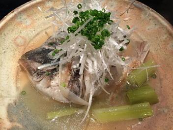 大阪、鯛カブトの難波煮