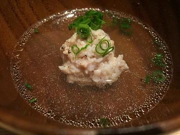 鶏と自然薯のスープ蒸しつくね