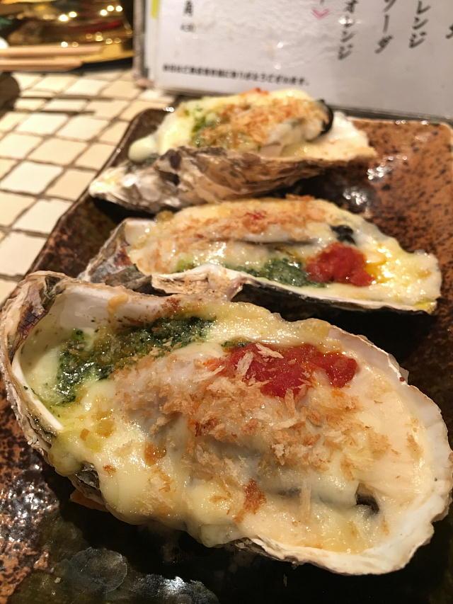 牡蠣のグラタン 香草バター焼き